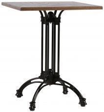 Block & Chisel square café table with black iron base