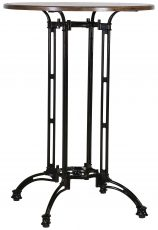 Block & Chisel round bar café table with black iron base