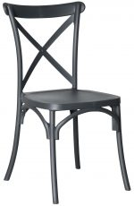 Block & Chisel charcoal PVC cross back dining chair