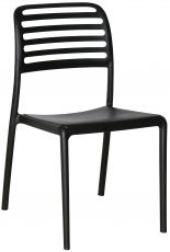 Block & Chisel black PVC slated back dining chair