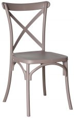 Block & Chisel grey PVC cross back dining chair