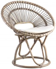 Block & Chisel koboo jawit natural rattan fan back chair