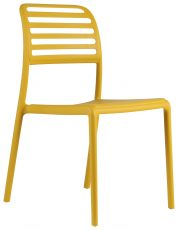 Block & Chisel yellow PVC slated back dining chair