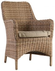 Block & Chisel rattan outdoor armchair