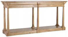 Block & Chisel rectangular 6 leg wooden console