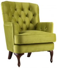 Block & Chisel green upholstered occasional chair