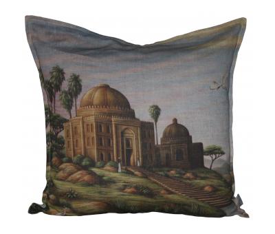 Block & Chisel garden linen cushion