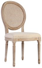 Block and Chisel Ratten Spa Back Dining Chair