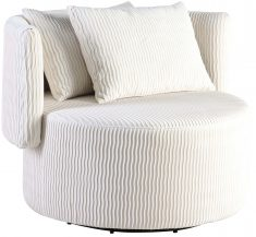 Block & Chisel cream upholstered occasional chair with scatter cushions