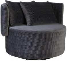Block & Chisel grey upholstered occasional chair with scatter cushions
