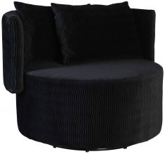 Block & Chisel black upholstered occasional chair with scatter cushions