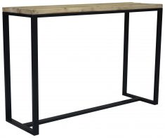 Block & Chisel reclaimed wooden console table with metal base