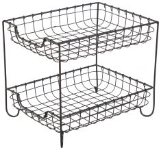 Block & Chisel 2 tier iron stand