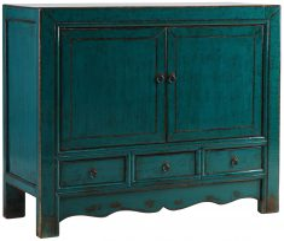 Block & Chisel blue wooden sideboard