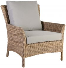 Block & Chisel rattan outdoor lounge chair