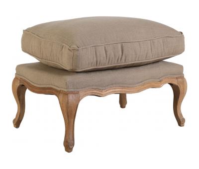 Block & Chisel beige upholstered Beauvais ottoman
