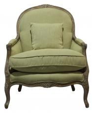 Block & Chisel olive green lounge chair