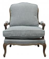 Block & Chisel blue french lounge chair