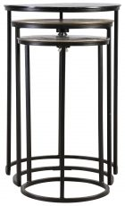 Block & Chisel round nesting tables