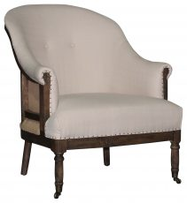 Block & Chisel Occasional Chair Upholstered Deconstructed Rubber Wood