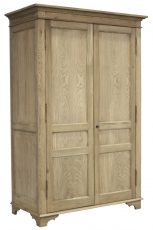 Block & Chisel double door solid weathered oak wardrobe