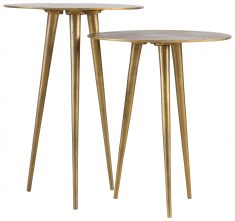 Block & Chisel aluminium side table