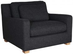 Block & Chisel grey upholstered armchair