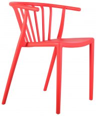 Block & Chisel red PVC horseshoe back chair