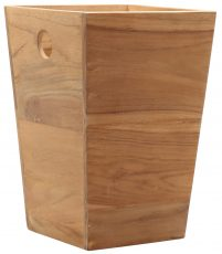 Block & Chisel square teak wood bucket