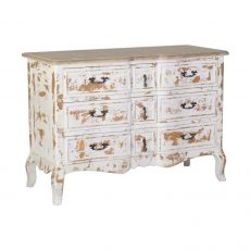 Distressed 3 drawer chest of drawers