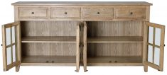 Block & Chisel oak wood sideboard with glass doors