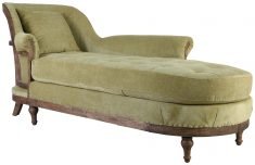 Block & Chisel green upholstered day bed with rubber wood legs