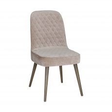 Block & Chisel camel upholstered dining chair with beech wood legs