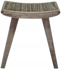 Block & Chisel mango wood slated stool