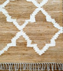 Block & Chisel beige carpet with print