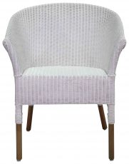 Block & Chisel white rattan dining armchair