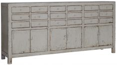 Block & Chisel grey oriental inspired sideboard