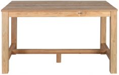 Block & Chisel rectangular reclaimed teak bar table