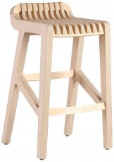 Block & Chisel birch plywood kitchen stool with clear matt sealer