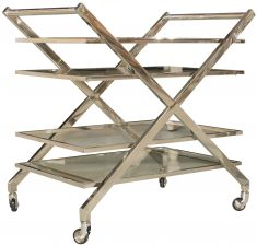Block & Chisel glass & stainless steel 2 tier trolley