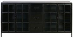 Block & Chisel metal sideboard with glass panels