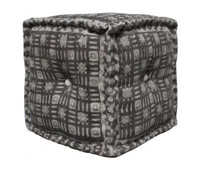 Block & Chisel square jute poufs