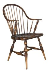 Block & Chisel cherry brown wooden armchair