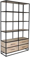 Block & Chisel old elm wood display cabinet with iron frame
