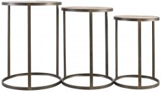 Block & Chisel round MDF and Iron nesting side tables