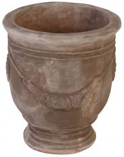 Block & Chisel brown terracotta pot