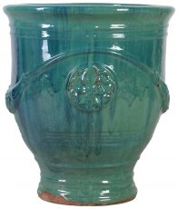 Block & Chisel blue terracotta pot with glaze