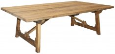Block & Chisel rectangular old elm wood coffee table