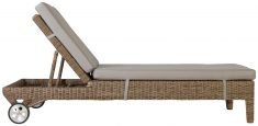 Block & Chisel synthetic rattan outdoor lounger with cushion