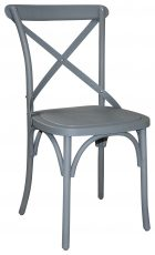 Block & Chisel grey cross back dining chair